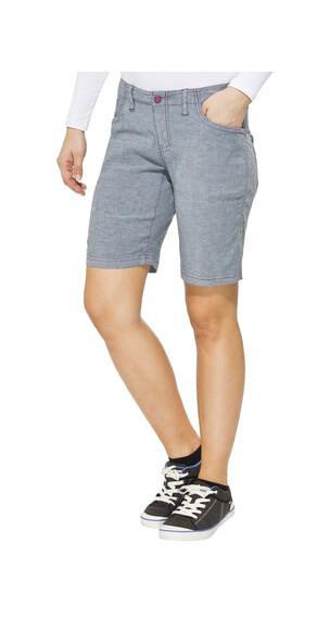 Salewa Frea korte broek Dames CO Denim blauw